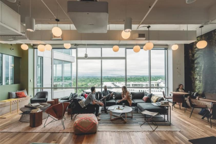 WeWork open space office