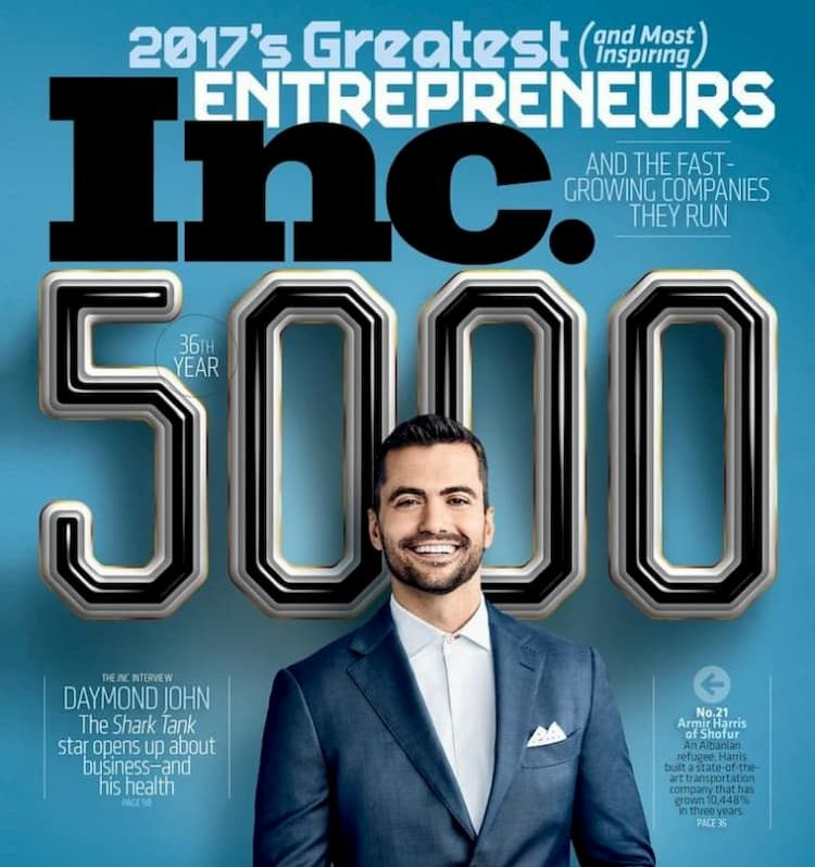 Armir Harris on cover of Inc 5000