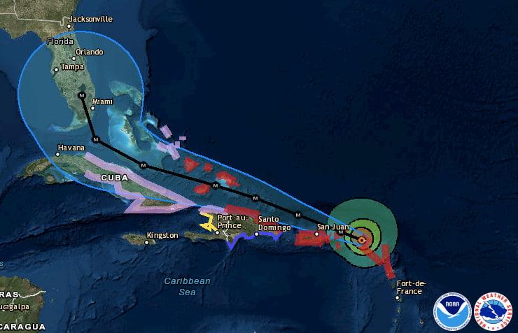 hurricane irma's predicted path