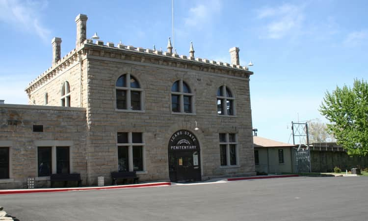 The entrance to the Old Idaho State Penitentiary