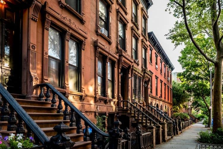 Brooklyn brownstones in a row