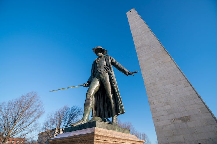 Bunker Hill Monument in Boston, Massachusetts