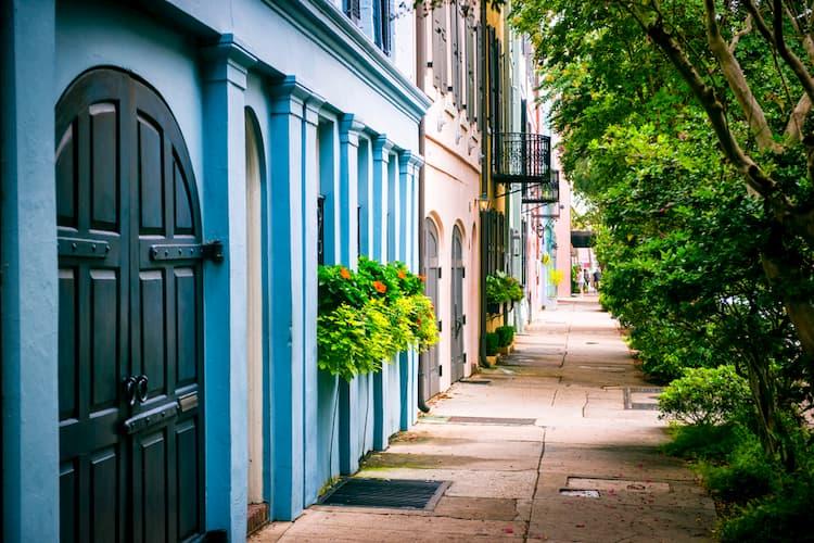 Rainbow Row in Charleston