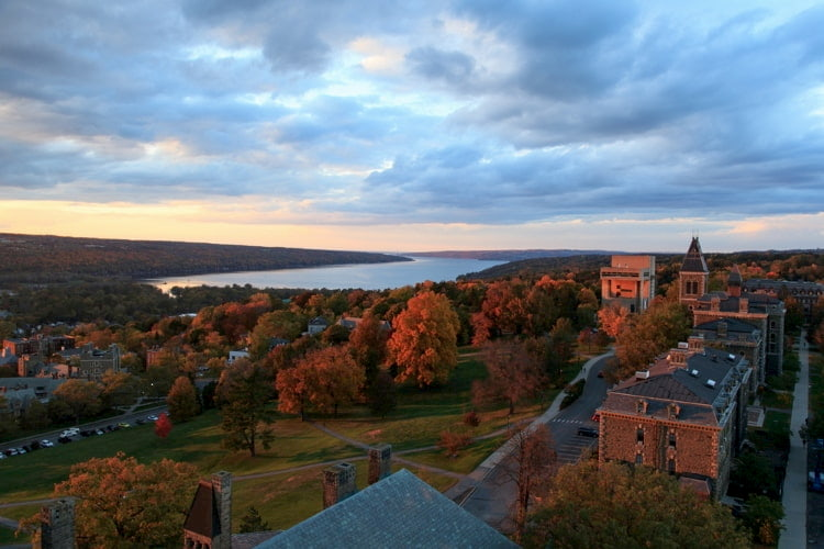 The Cornell University campus in Ithaca, New York