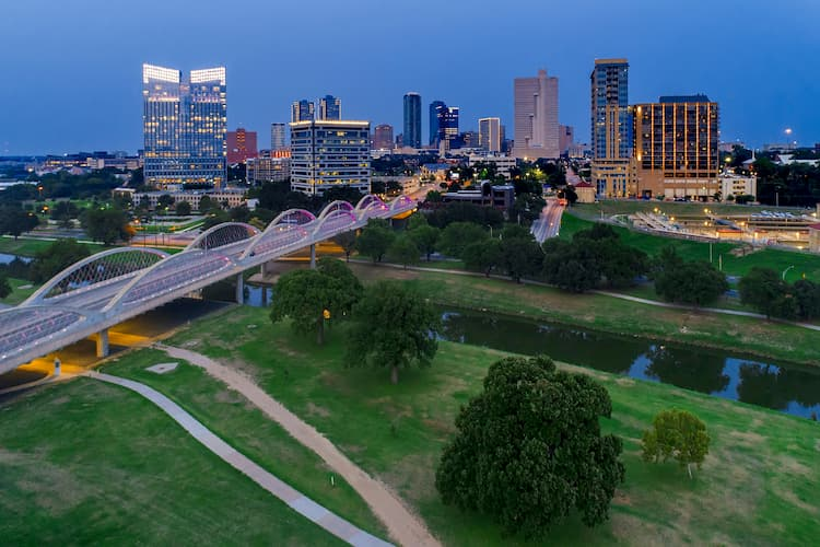 a view of fort worth's skyline