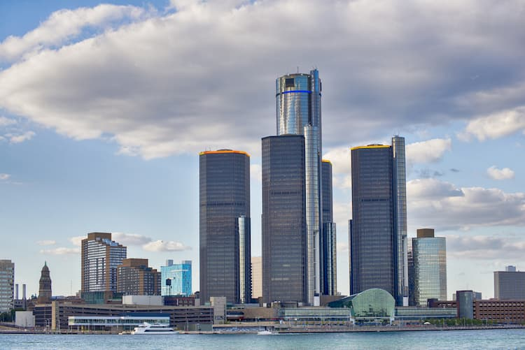 Skyscrapers of the GM Renaissance Center