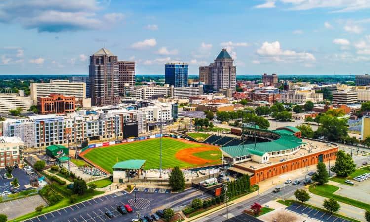 The skyline of Greensboro, North Carolina