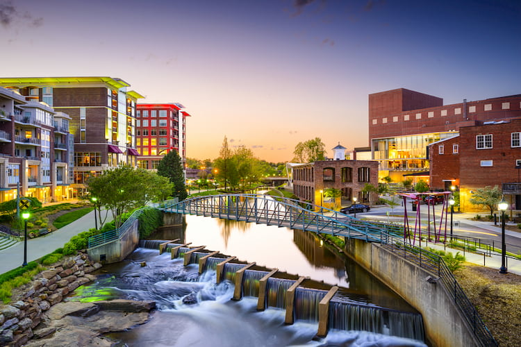 a landscape view of the city of greenville