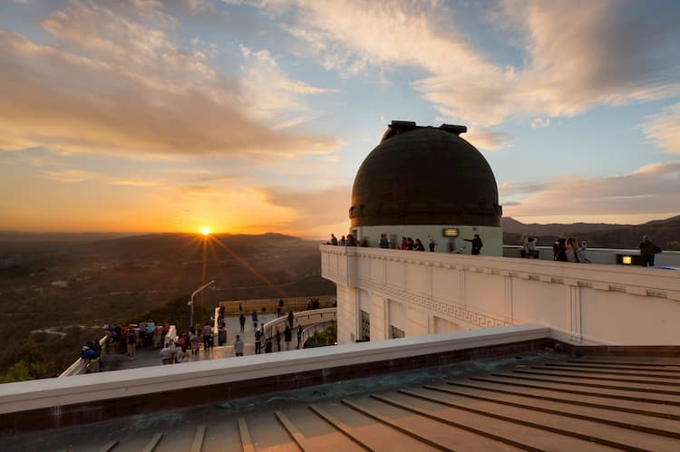 The top of the Griffith Observatory