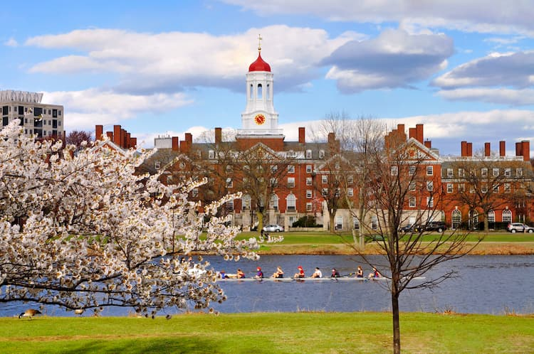 Harvard University in the spring