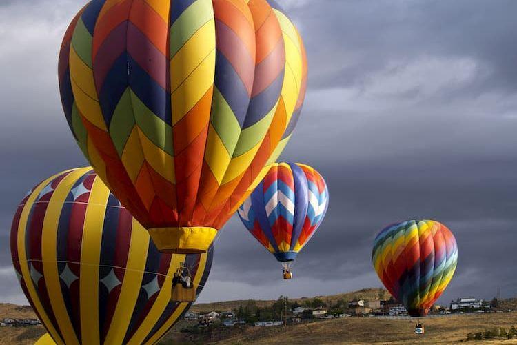 Hot air balloons at Great Reno Balloon Race