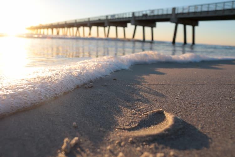 Footstep on Jacksonville Beach