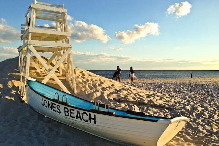 Jones Beach lifeguard stand with labeled kayak
