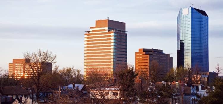 The Downtown Lexington Kentucky skyline