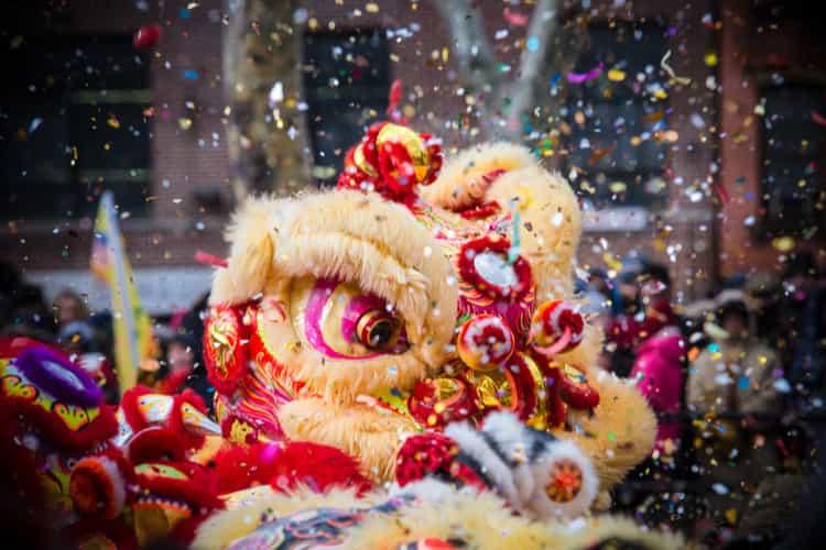 A Lunar New Year Celebration Float