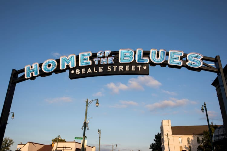 an entrance to beale street in memphis