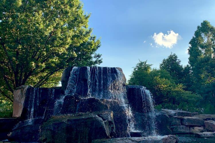 Myriad Botanical Gardens waterfall
