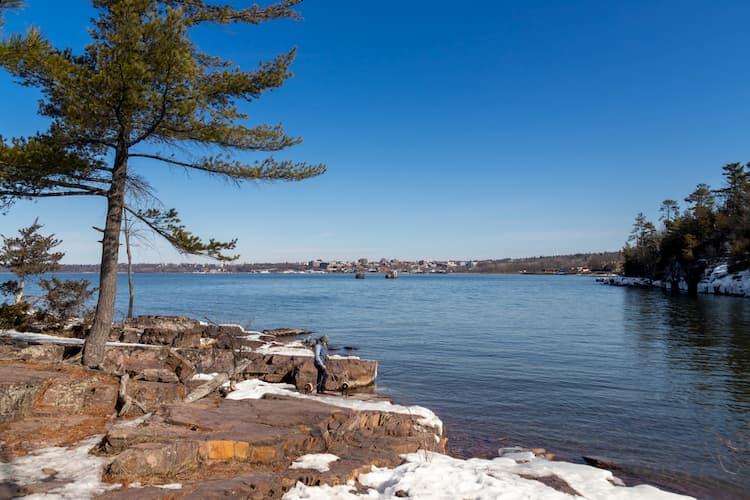 Oakledge Park on Lake Champlain shoreline