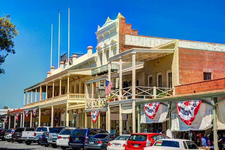 Historic buildings in Old Sacramento