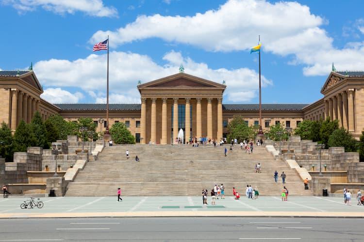 Philadelphia Museum of Art entrance with steps