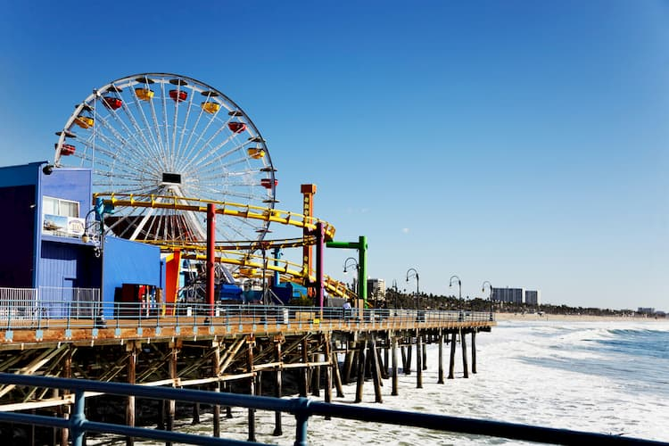 Ferris wheel on Santa Monica Pier