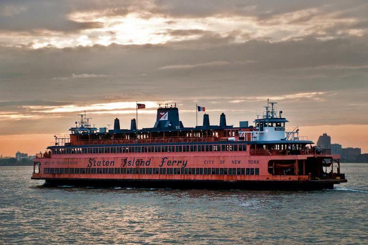 Staten Island Ferry at dusk