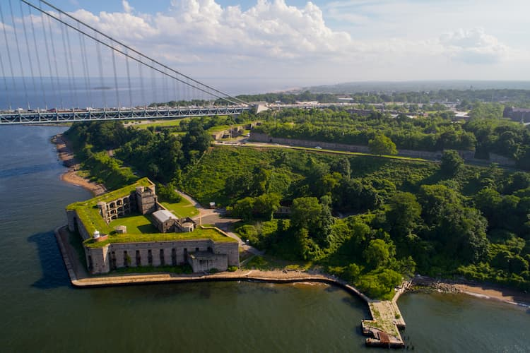 Staten Island from a distance