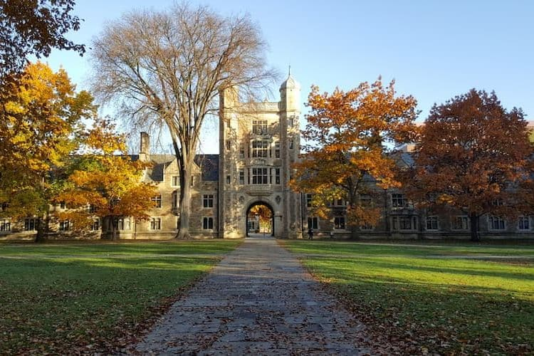 University of Michigan entrance in fall